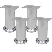 Set of 4 chrome legs